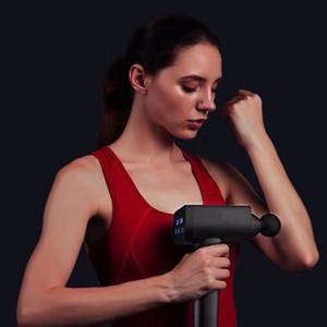 Fitness Vibration massage pistolet électrique écran LED pour le corps silencieux Massager Relief outil Cou taille lombaire Back Pain Charging