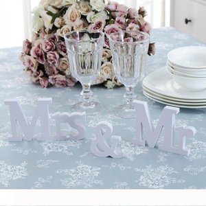 A White Wood Sign Vintage Style Mr and Mrs Sign Mr & Mrs Wooden Letters Rustic Wedding Signs for Wedding Table,Photo Props,Party Table,
