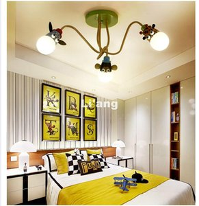 Moderna bambini Camera da letto Lampada da soffitto LED creativo del fumetto animale Testa di scimmia della zebra della giraffa dei bambini del soffitto di illuminazione della stanza di bambini della decorazione