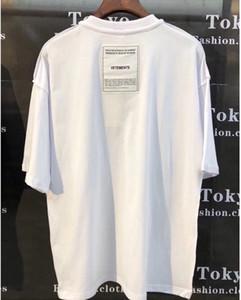 shirt novo Vetements remendo t-shirt de alta qualidade Oversize Top Tees Vetements camisetas Bordados ambos os lados Vetements T