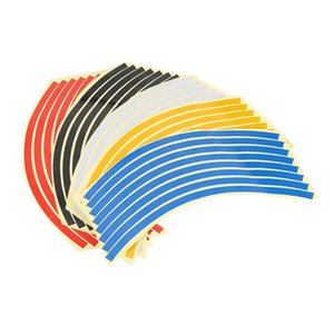Motorcycle Accessories 5 Colors Car Styling 10~20 Inch Car Wheel Stickers Wheel Rim Sticker Reflective Tape Decal Rim