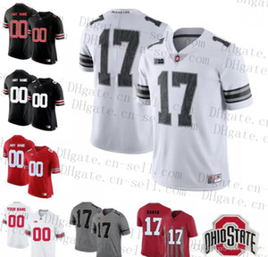 Personalizada NCAA 150º Ohio State Buckeyes Campos Garrett Wilson 14 KJ Colina Jr. 17 Chris Olave 80 CJ Saunders Qualquer Nome Número OSU Faculdade Jerseys