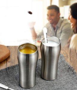 De vacío de acero inoxidable 20pcs 430 ml Vaso de cerveza taza grande de doble pared de acero inoxidable de la cerveza taza de la taza de café aislada Recipientes