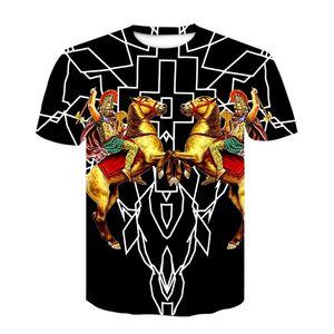 Máscara Roman Cavaleiro Guerreiro espartano do gladiador camiseta Para o t-shirt Casual Men algodão de manga curta Ypf262 Spartan herói Helmet