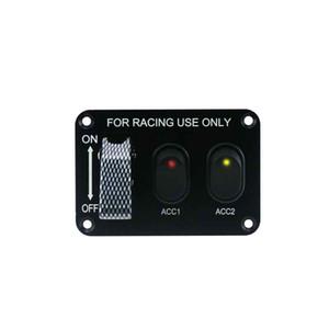 Carbon Fiber Switch 2 Interruttore di corsa ON-OFF 3 auto Panel Alterna Gang spinta presa 12V per Auto Auto