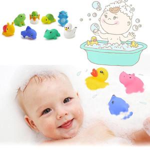 13Pcs Fun Baby Bath لعبة مختلفة لطيف متعدد الألوان عادية البسيطة الحيوان متعة اللعب المياه 6 أشهر - 6 سنوات