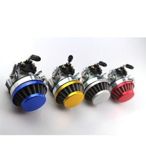 O envio gratuito de 49cc 19 milímetros Carb Carburador Filtro caber Assembleia 2 tempos 47cc 49cc Mini Pocket Bike ATV