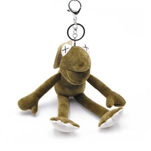 1piece nouvelle mode à jambes longues grenouille porte-clés hommes et femmes mignon Pendentifs voiture en peluche Poupée Ins Sacs Hanging ornements Vente chaud populaires