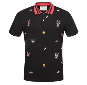 2020 nuevo algodón de verano los deportes de solapa media manga de manga corta camisa de los hombres de negocios s de polo de pie de cuello camiseta para hombre del diseñador de camisetas