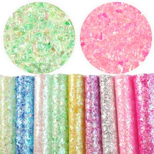 9Pcs 20*34cm Sequin Shiny Synthetic Leather For Hair Bow Handbags Book Cover Projects Making,1Yc6613