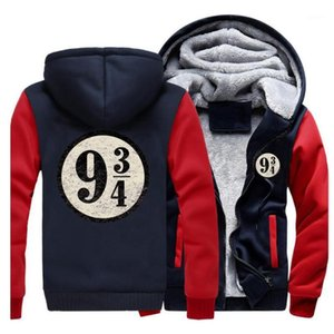 Tren a la plataforma nueve y tres cuartos sudaderas con capucha casual para hombre de la chaqueta de invierno con capucha de la vendimia con capucha Marca Streetwear1