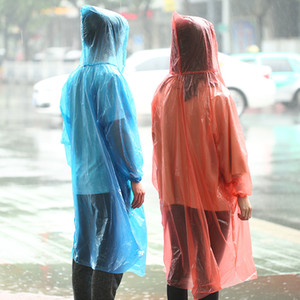Wholesale One-time Raincoat Thicken Disposable PP Raincoats Disposable Emergency Waterproof Poncho Rainwear Travel Rain Coat DBC DH0474