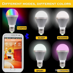 High Bright RGB drahtlose Bluetooth Smart LED-Glühlampe E27 5W RGBW-Birne für Android und für iOS AC85-265V