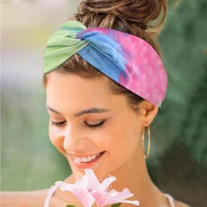3Pcs Headpiece Women Sports Yoga Tie Dye Headband Tie-dye Hairband Girls Turban Headwear Female Beach Summer Hair Accessories