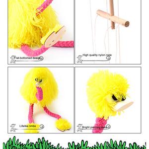 Детские Игрушки 5 Шт. / Упак. Рождественские Забавные Игрушки Pull String Кукольный Страус Фаршированные Марионетка Игрушки Совместная Деятельность Кукла Фестиваль Подарок