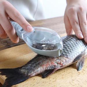 Outils de poisson Nettoyage rapide peau de poisson en plastique Fish Scales Cleaner Brosse rasoir Remover détartrant Skinner Scaler Outils de pêche 3 Couleurs