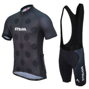 2019 Pro Team Strava Men's Cycling Jersey Sets Cycling Clothing Short Sleeve Bike Sets Maillot Ropa Ciclismo MTB Bicycle Kit