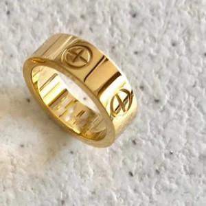2pieces lüks tasarımcı orijinal çanta ile kadınlar ve erkekler alyans setleri için takı kadınlar rings 18k altın titanyum çelik nişan yüzük