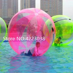 Spedizione gratuita 2m 1.0mm TPU Water Walking Balls Giant Water Ball Zorb Ball Ballon gonfiabile criceto umano Water Ball