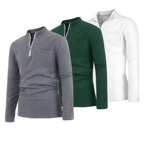 luxury Men's Linen Long Sleeve Muscle Solid T-shirt Casual Loose Tops Tee