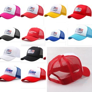 Yeni Trump Beyzbol Şapkası Donald Trump Amerika Büyük 2020 Top Şapka Patchwork Snapback Yaz Beach Balıkçılık Koşu Güneşlik Şapka B5162 tutun