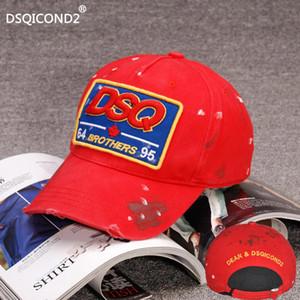 Marka DSQICOND2 SBT 64 kardeşler 95 Moda İlkbahar ve Sonbahar beyzbol şapkası kadın erkek güneş şapkası nakış Harf kapaklar