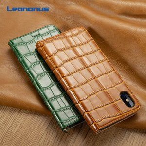 High-end Business Real Cowhide Case For iPhone 7 8 Plus XS Case Genuine Leather Card Slot Holder Cover For iPhone X XS Max XR