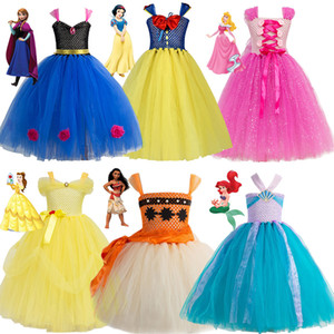 24 Стиль ручной работы Вязание Принцессы Тута платье для девочек Необычного Birthday Party Summer Fancy Dress Up Косплей Костюм для девушки подарок LD1911015