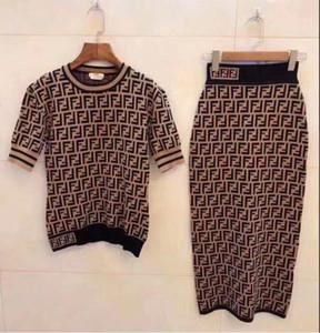 Designer-Frauen-Kleid Luxuxdamen Shirts + Rock-Klagen Marke Mädchen Midiröcke Anzug Sexy-Partei-Verein Slim Fit-Kleid-Sommer-Kleider 2020669K
