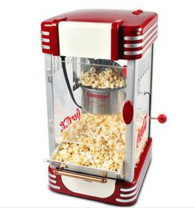 Retro Serisi Elektrikli Popper Ev Mini Sıcak Hava Mısır Patlatma Makinesi Popcorn Makinası Home For Mutfak Çocuk.