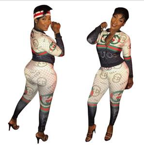 Tallas grandes Trajes de 2 piezas Mujeres Otoño Top de manga larga + Bodycon Pantalones Trajes Chándales informales Conjuntos de dos piezas Traje deportivo a juego