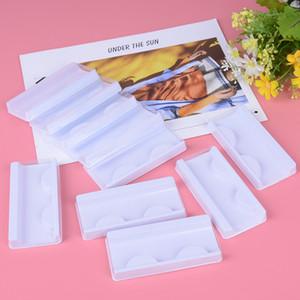 10sets Прозрачный Белый Розовый Пластиковые Ресницы Упаковка Box Поддельные Ресницы лоток для хранения крышка одного случая на заказ