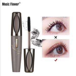 makeup Music Flower new three-dimensional abundance waterproof mascara silicone fine brush head lasting curl