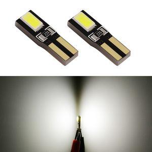 10pcs Led T5 2721 W3W W2 * 4.6d 5630 SMD 웨지 계기판 표시 등 램프 속도계 게이지 클러스터 대시 표시 등 10-15V DC