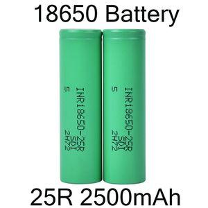 2500mah INR 25R 18650 con Samsung Baterías Batería de litio recargables para la tapa plana de la linterna del faro de DHL FJ752