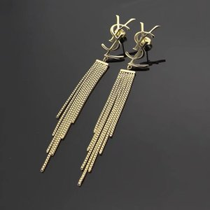 New arrival 316L Titanium steel stud designer Earring long tassel Women Charm love Earrings Designer Jewelry free shipping