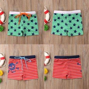 Hot Summer Toddler Kids Baby Boys Swimsuit Shark Stars Stripe Print Shorts Pants Swimming Trunks Beachwear Swimwear Bathing Suit