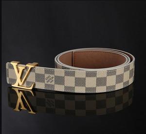 Belts mens womens Belt Black Genuine Leather black Gold Smooth Buckle with orange Box orange Dust Bag white Gift Bag