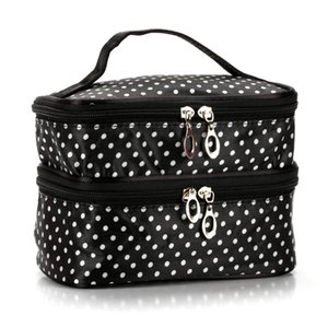Case Bag Handbag HM002 And Double Dot Makeup Bags Organizer Wave Point Cases Cosmetic Hot Dlrto