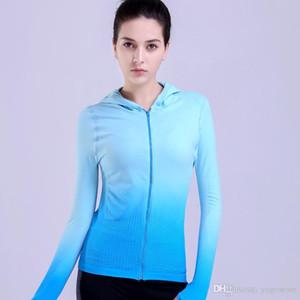 Femmes Sexy Veste de sport Trainning exercice Vestes Fitness séchage rapide Mesh Yago Sport Pull entraînement en vrac sport à capuche