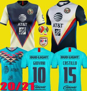 Yeni 2020 2021 Club America Soccer Formalar Deplasman 20 21 F. VIÑAS HENRY G. OCHOA RODRIGUEZ América Jersey GIOVANI üçüncü Futbol Gömlek