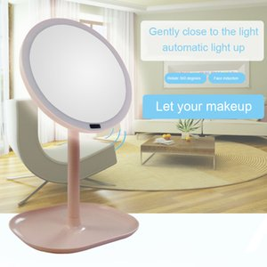 New 7X Magnifying LED Makeup Mirror Rotation Foldable USB Lighted Vanity Mirror Montion Sensor Adjustable Portable Tabletop Lamp