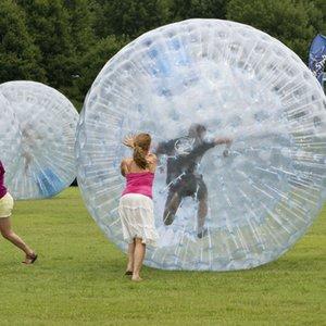 tamanho 2,5M Dia inflável Zorb bola Human Hamster Ball Para pessoas dentro baratos inflável Zorbing Preço Popular PVC Bola de vidro
