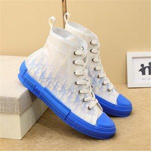 Dior Shoes b23 2020 nuevos zapatos de lona ocasionales con cordones deportes marco zapatillas de deporte de la estrella de impresión clásicos zapatos de lona sentido técnico del
