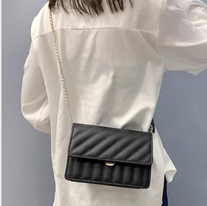 3 colori di vendita calda di marca di modo Donne Borse Vintage Borse del progettista per le donne 19CM pelle catena di borsa Crossbody Borse a tracolla