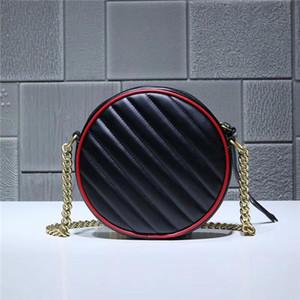 2021.Black retro pequeña bolsa redonda estilo, usando diseño redondo lúdico y encantador. Rojo cereza brillante rimming para crear sorprendentes efectos visuales.