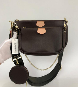 Lieblings Multi Designer Luxus Handtasche echtes Leder Green Belt Rosa Gürtel-Schulter Crossbody-Tasche Dame-Geldbeutel 3 PC-Abendtasche