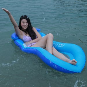 160CM Giant Blue Red Mesh Inflatable Pool Float Lie-on Swimming Ring Beach Pool Summer Party Toys Air Inflation Mattress Beach Bed Lounger