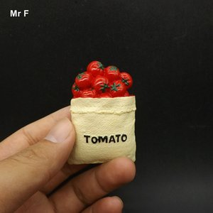 Exquisite Flat Back Resin Model Tomato In The Bag Resin Miniature Food Art Toy