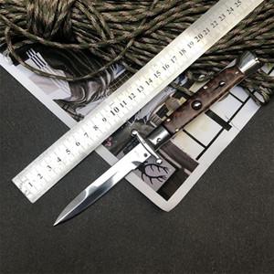 "BM kaliteli theone 9"" İtalyan Stiletto Swinguard Snakewood ayna bıçak Taktik Oto sağkalım bıçak"